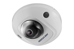 Hikvision DS-2CD2543G0-IS (2.8mm) 4 Megapixel Mini Vandal Dome Kamera POE Infrarot 10 Meter Inkl. Mikro WDR ROI VCA für Smart Search MikroSD bis 128G