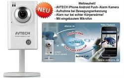AVN701 Innenbereich AVTECH Mepgapixel iPhone Android Push Video Alarm Kamera EAZY Setup auf iPhone Android