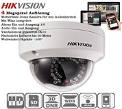 Hikvision DS-2CD2142FWD-IWS WLAN Alarm Audio 4 Megapixel Vandal Dome Kamera POE Infrarot 30 Meter Nachtsicht WDR ROI VCA Smart Search MikroSD bis 128G