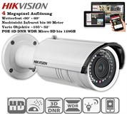 Hikvision DS-2CD2642FWD-IZS 4 Megapixel (2688×1520) (-Z) Motorzoom POE Infrarot bis 30 Meter Nachtsicht WDR ROI VCA (-S) Version Audio & Alarm In Out